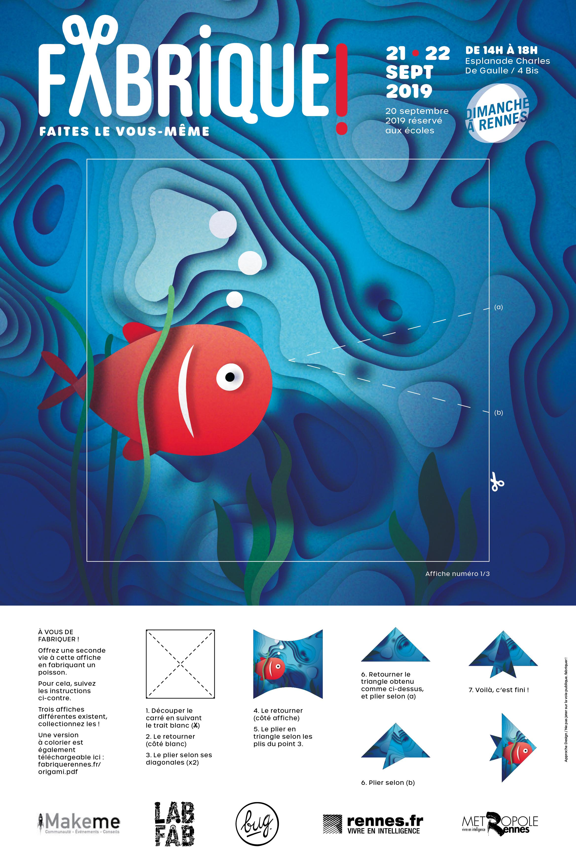 Affiche Poisson Rouge